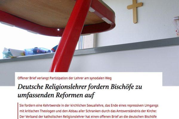 Positionspapier der Religionslehrer*innen in den Medien